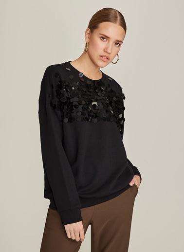 Ng Style Payet İşlemeli Sweatshirt Siyah